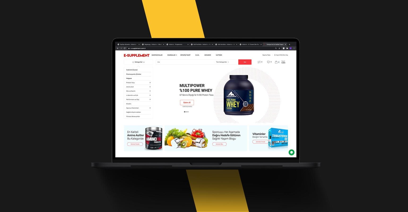 e-supplement-web-tasarim